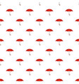 umbrella pattern seamless vector image