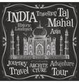 India logo design template Taj Mahal or vector image
