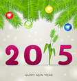 2015 pink with flower vector image