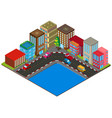 3d design for buildings in city vector image vector image