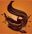 abstract background with chocolate splash high vector image vector image