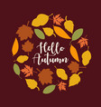 autumn leaves background banner vector image vector image