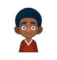 black african american or hindu boy avatar vector image