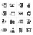 Black Household Gas Appliances icons vector image vector image