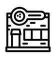 bowling building icon outline vector image