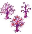 cartoon love tree with hearts vector image