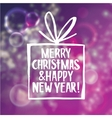 Christmas and new year abstract background with vector image vector image