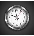 Clock on dark vector image vector image