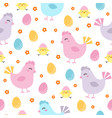 cute easter chicken seamless pattern vector image vector image