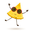 cute pineapple character jumping vector image vector image