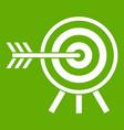 darts icon green vector image vector image