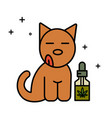 dog and cbd oil vector image vector image