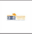 education logo icon stock on a white backgr vector image vector image