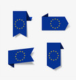 european union flag stickers and labels vector image