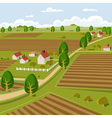 Farm landscape vector | Price: 3 Credits (USD $3)