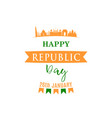 festive design for india republic day greeting vector image vector image