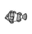 fish clown dotwork vector image vector image