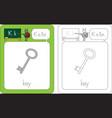 flashcard letter k vector image