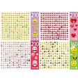 flat emoticons symbols vector image