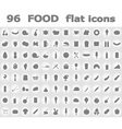 food flat icons 02 vector image vector image