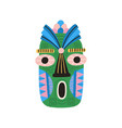 funny ethnic tiki tribal mask with huge eyes and vector image vector image