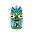 funny ethnic tiki tribal mask with huge eyes vector image vector image