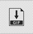 gif file document icon download gif button icon vector image vector image