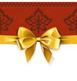 Gift Bow with Autumn Knitted Pattern 1
