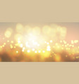 golden bokeh lights banner vector image vector image