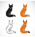 group fox design on white background fox icon vector image