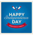 happy independence day usa card fonts vector image