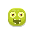 Happy Monster Square Icon vector image