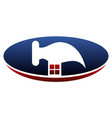home repair logo design template vector image vector image