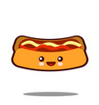 hot-dog cartoon character icon kawaii fast food vector image vector image