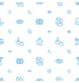 human icons pattern seamless white background vector image vector image