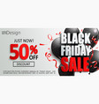 inviting banner for black friday sale vector image