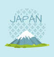 japan travelling promo poster with high mountain vector image vector image