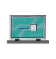 laptop computer web site page device image vector image vector image
