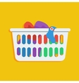 Laundry basket icon vector image vector image