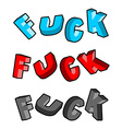 lettring set Profanity typography vector image