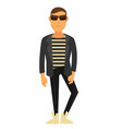 man fashion model wearing style clothes vector image vector image