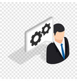 manager of car service center isometric icon vector image vector image