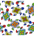 mexican seamless pattern with turtles vector image