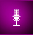 microphone icon isolated on purple ound vector image vector image
