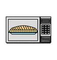 microwave cake pumpkin for thanksgiving dinner vector image