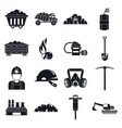 name icons set simple style vector image