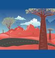 red australian desert