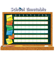schedule for student vector image vector image