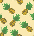 Seamless Pineapples Pattern Background vector image vector image