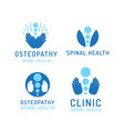 set logo osteopathy vector image vector image